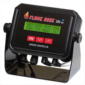 Flame Boss 300 Automatic Smoker Temperature Controller - Perfect Weber Smokey Mountain Temperature Controller