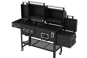 Smoke Hollow 4 in 1 Charcoal and Gas Grill Combo - Best offset smoker