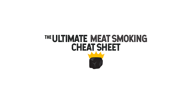 King of the Coals Meat Smoking Cheat Sheet